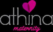 logo athina maternity moda para embarazadas