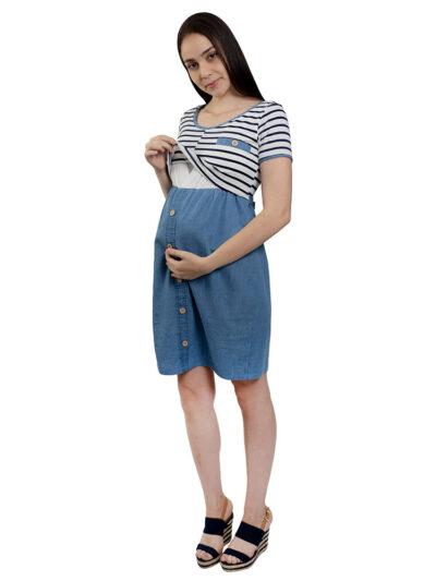Vestido materno-lactancia Janina