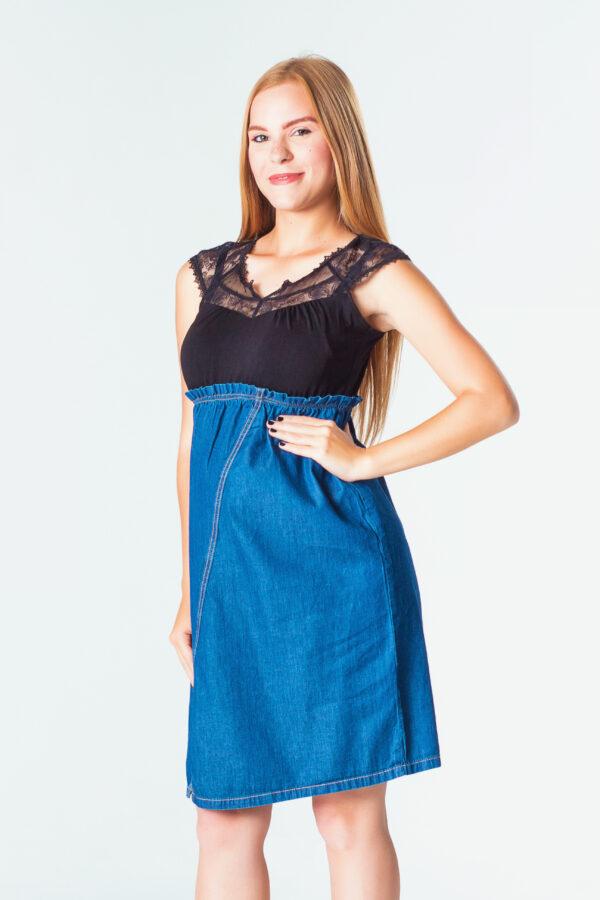 2007-06 Vestido Materno Jeanette Azul (2)