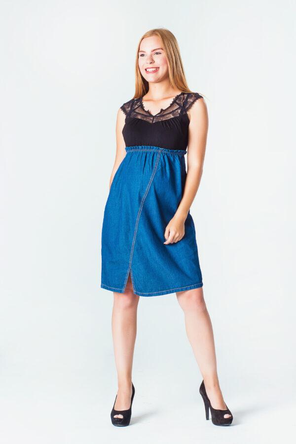 2007-06 Vestido Materno Jeanette Azul (3)