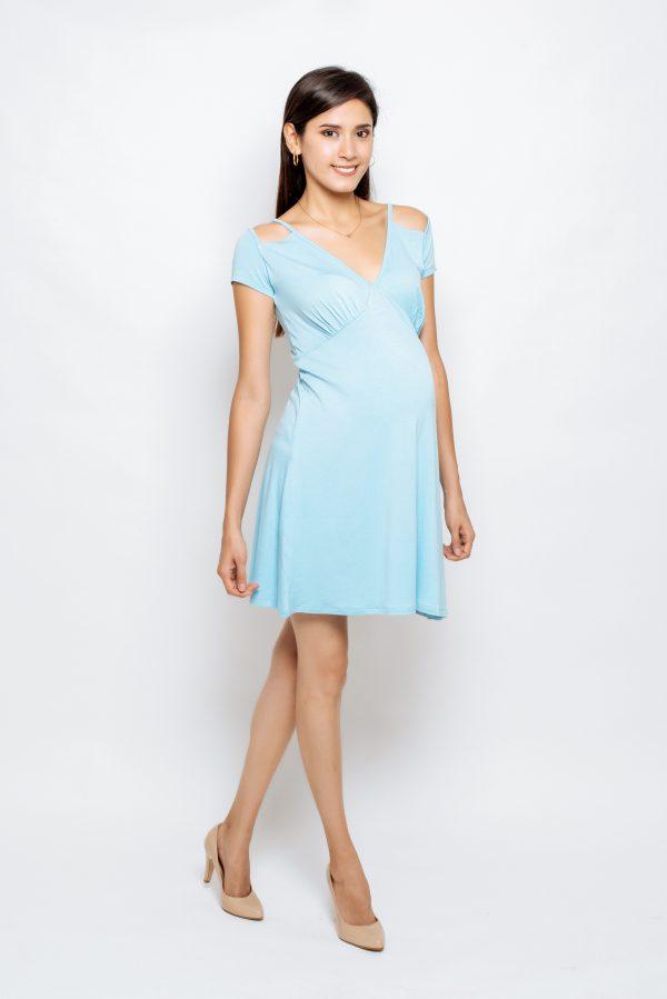 2028-06 vestido materno Juliana-visc sólida (2)