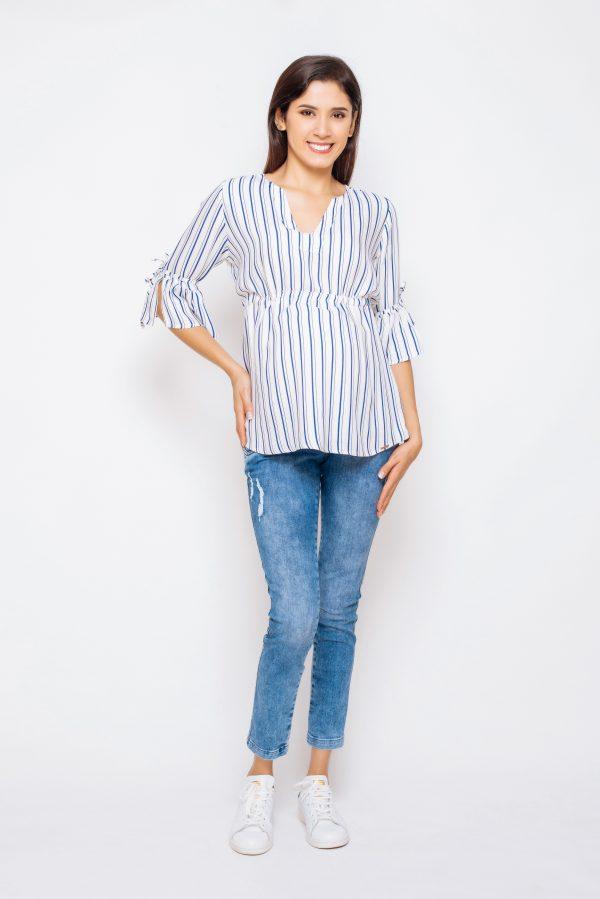 2062-10 blusa materno Liana-crepe listado 3 (2)